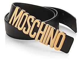 Moschino Men's Logo Leather Belt