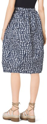 Michael Kors Gingham Crushed-Taffeta Dance Skirt