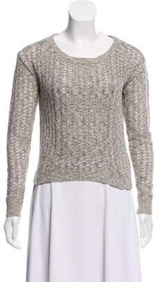 Peter Som Open-Knit Long Sleeve Sweater