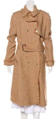 Lafayette 148 Wool Double-Breasted Long Coat