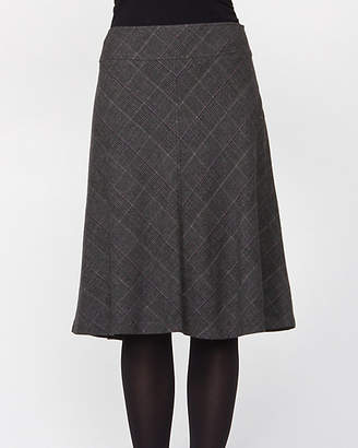 Le Château Wool Blend Check A-line Skirt