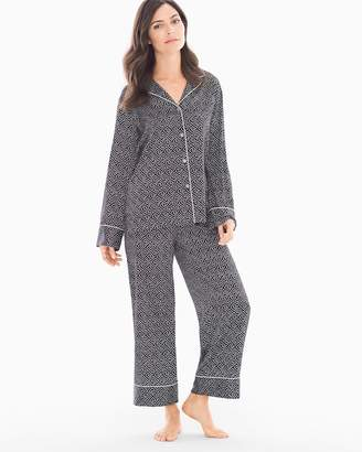 Natori Labyrinth Satin Pajama Set