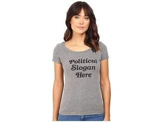 Rachel Antonoff Political Slogan Here Scoop Neck Tee Women's T Shirt