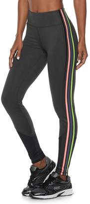 Fila Sport Women's SPORT Striped Mesh Mid-Rise Leggings