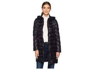Calvin Klein Walker Length Packable with Chunky Zipper Hardware