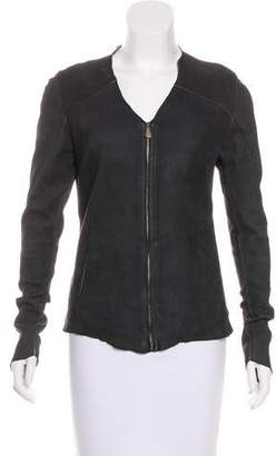 Giorgio Brato Zip-Up Leather Jacket