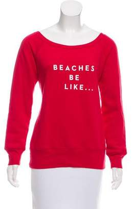 Milly Graphic Print Pullover Sweatshirt