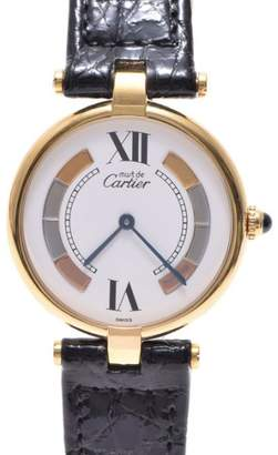 Vermeil Gold Plated and Leather Quartz 30mm Womens Watch