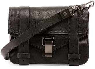 Proenza Schouler PS1 Mini Luxe Leather Crossbody Bag, Black