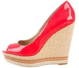 Saks Fifth Avenue Peep-Toe Platform Wedges