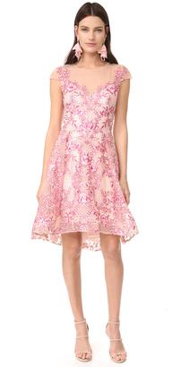 Marchesa Notte Cap Sleeve Cocktail Dress $795 thestylecure.com