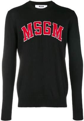 MSGM logo pach sweater