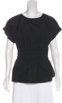 Marc by Marc Jacobs Short Sleeve Ruched-Accented Top