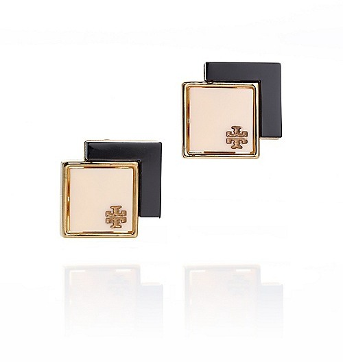 Tory Burch Tomi Double Square Post Earring