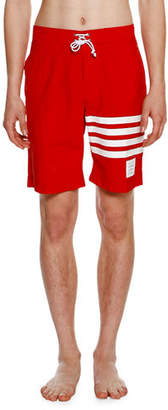 Thom Browne BOARD SHORT IN PRINTED 4BAR $490 thestylecure.com