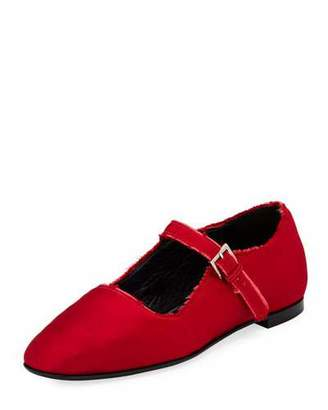The Row Ava Satin Mary Jane Flat