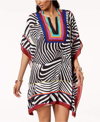 INC International Concepts Trina Turk x I.N.C. Zebra Print Kaftan, Created for Macy's