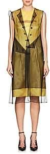 Calvin Klein Women's Logo Mesh-Layered Dress