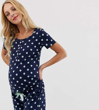 afbb2922a133f Licious Mamalicious nursing maternity polka dot pyjama set