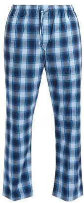 027de558d5 Derek Rose Ranga Brushed Cotton Pyjama Trousers - Mens - Blue