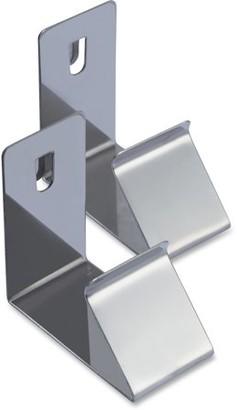 Lorell, LLR32119, Cubicle Partition Hanger Set, 2 / Set, Silver