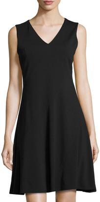 T Tahari Skyler Sleeveless V-Neck Dress, Black $75 thestylecure.com