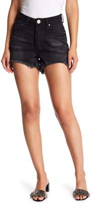 One Teaspoon Hawks High Waist Frayed Shorts