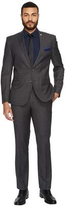 Nick Graham Two-Button Tonal Plaid Suit Men's Suits Sets