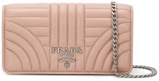 Prada quilted chain wallet