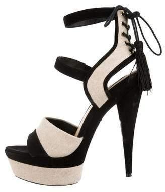 Rachel Zoe Canvas Ankle-Strap Sandals