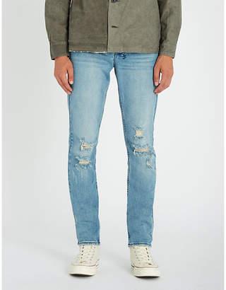 Ksubi Chitch slim-fit high-rise distressed stretch-denim jeans