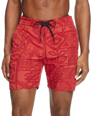 Outerknown Evolution Side Stripe Swim Trunks $75 thestylecure.com