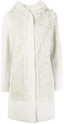 Yves Salomon hooded shearling coat