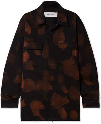 Marques Almeida Marques' Almeida Oversized Bleached Denim Shirt - Black