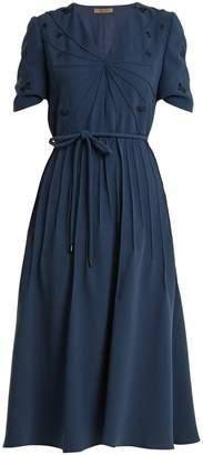 Bottega Veneta Embroidered crepe dress