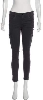 J Brand Sharkskin Low-Rise Skinny Pants