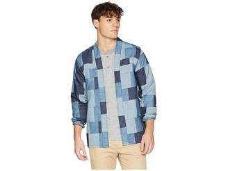 Naked & Famous Denim Kimono Shirt Patchwork Denim