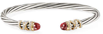 David Yurman 4mm Helena Cabochon Tip Bracelet with Diamonds