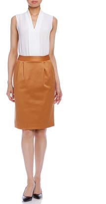 Lautreamont (ロートレアモン) - LAUTREAMONT タック スカート キャメル 36
