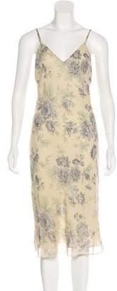 Calvin Klein Collection Silk Floral Dress