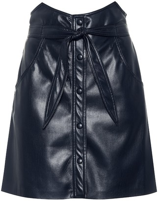 Nanushka Chai faux leather miniskirt