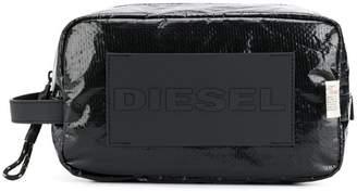 Diesel textured technical pouch
