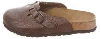Birkenstock Leather Round-Toe Mules