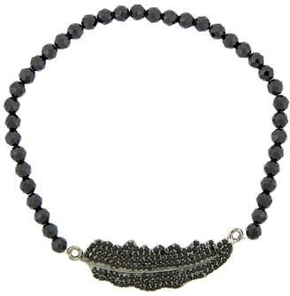 ADORNIA Fine Jewelry Women's Aria Spinel Feather Bracelet