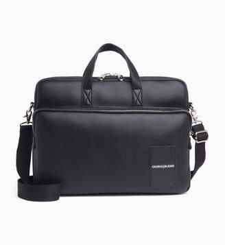 Calvin Klein coated canvas laptop bag