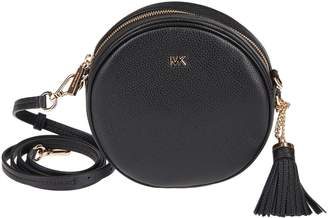 Michael Kors A Mercer Canteen Crossbody Bag Crafted In Pebbled Leather, Polyester Lining, And Gold-tone Metal Hardware