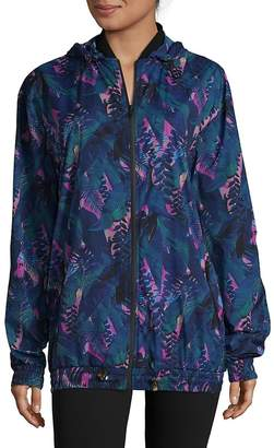 We Are Handsome Women's Tropical-Inspired Hooded Zipper Jacket