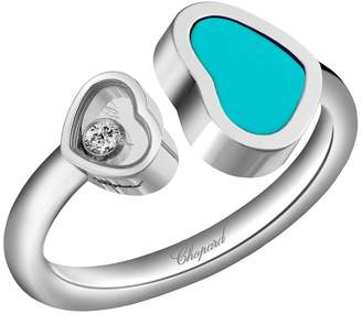 Chopard White Gold and Stone Happy Hearts Ring