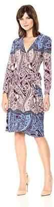 BCBGMAXAZRIA Azria Women's Adele Knit City Wrap Dress