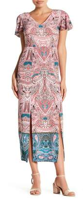 London Times Paisley Printed Maxi Dress (Petite)